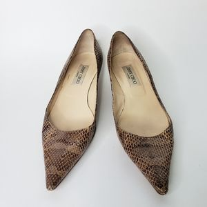 Jimmy Choo python kitten heels 39.5